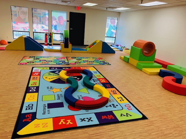 Play area at new preschool in Sacramento
